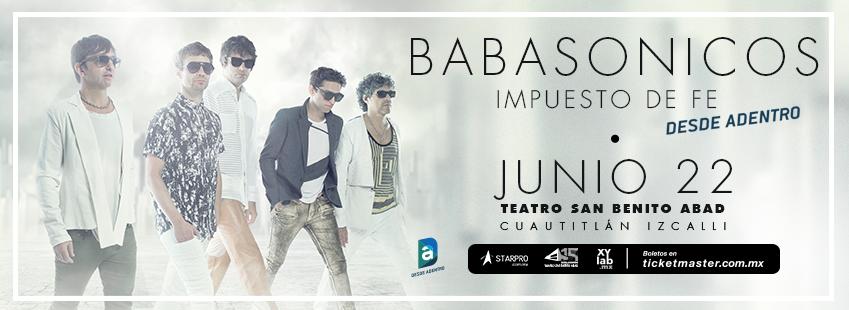 Babasonicos este próximo miércoles 22 de junio en el Teatro San Benito Abad | Boletos en ticketmaster http://bit.ly/BabasonicosEnIzcalli