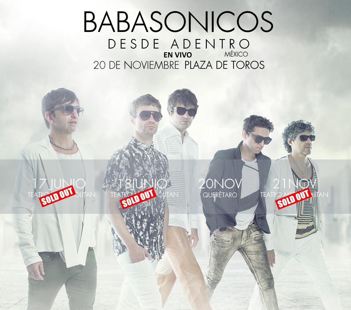 Próximo 20 de noviembre, Babasonicos en la Plaza de Toros en Querétaro, México