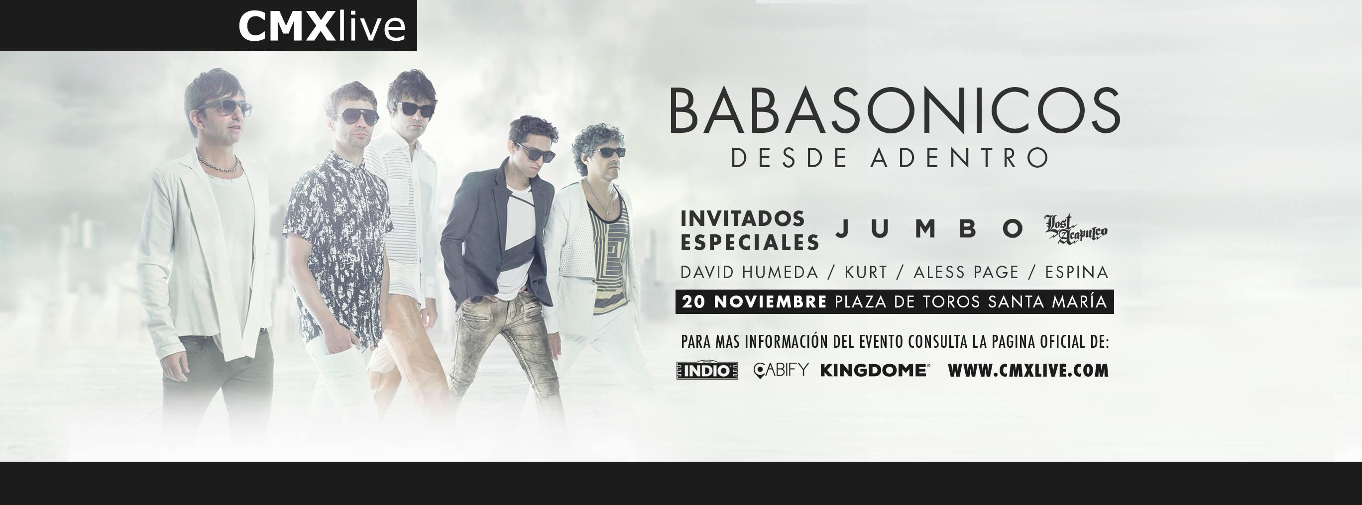 Habrá invitados como Lost Acapulco y Jumbo este próximo 20 de noviembre en la Plaza de Toros, Querétaro, México.