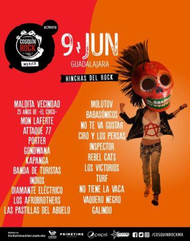 Cartel oficial del Cosquín Rock 2018